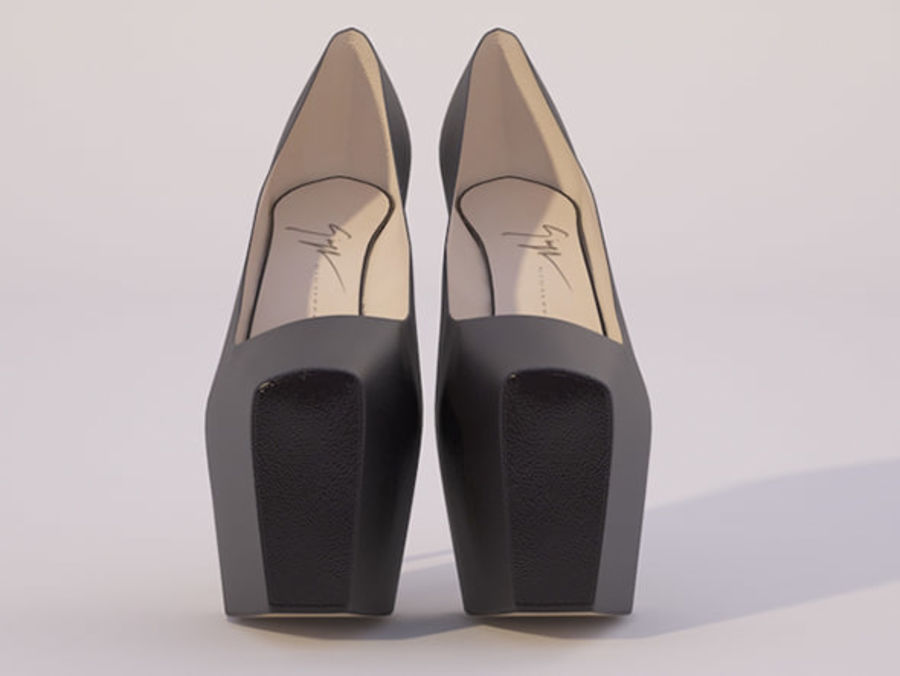 High Heel Shoes royalty-free 3d model - Preview no. 2