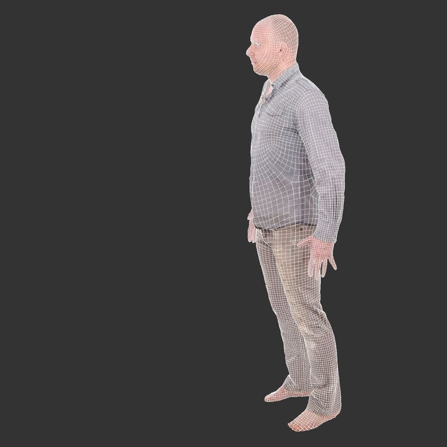 Jeans mit männlichem Charakter royalty-free 3d model - Preview no. 5