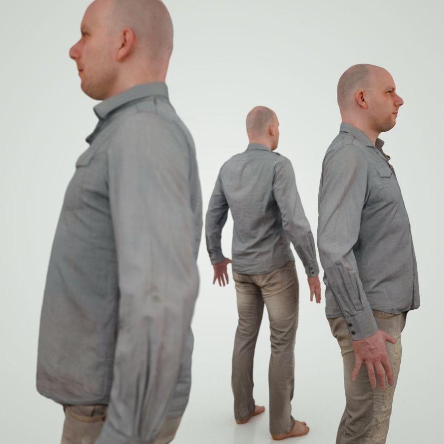 Jeans mit männlichem Charakter royalty-free 3d model - Preview no. 2