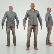 남성 캐릭터 청바지 3d model