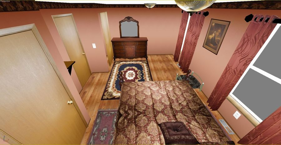 Quarto com modelo EXTRA GRATUITO royalty-free 3d model - Preview no. 6