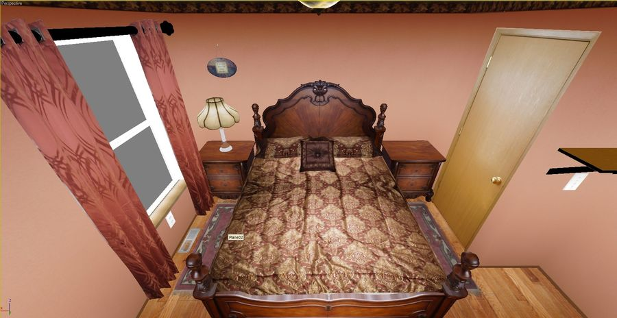 Quarto com modelo EXTRA GRATUITO royalty-free 3d model - Preview no. 5