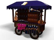Chariot de marchandise 3d model