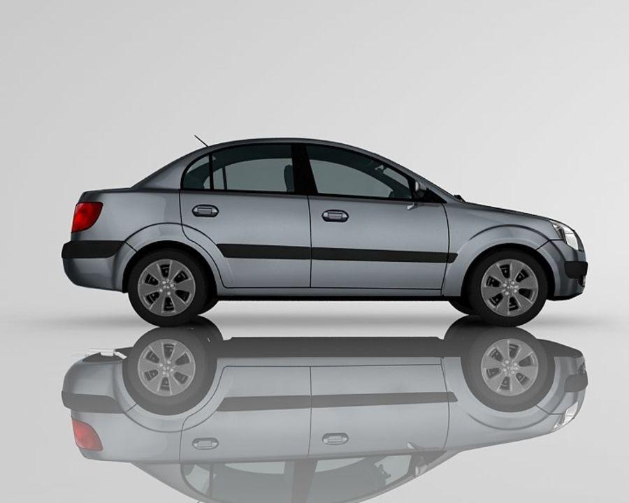 Kia Rio Sedan royalty-free 3d model - Preview no. 4