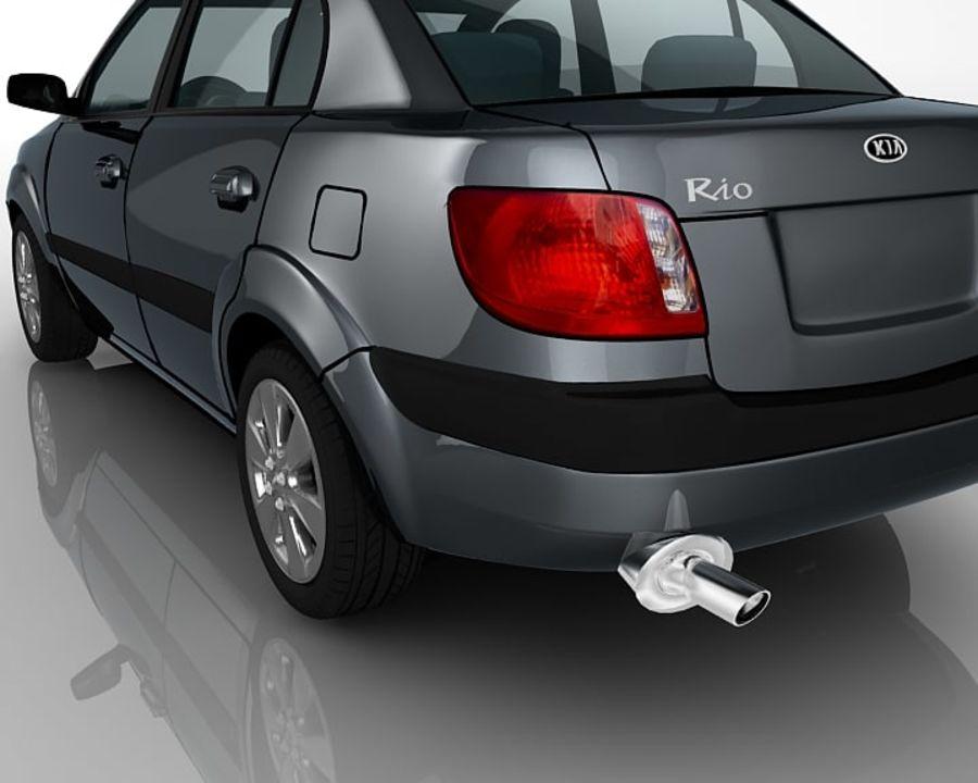 Kia Rio Sedan royalty-free 3d model - Preview no. 8