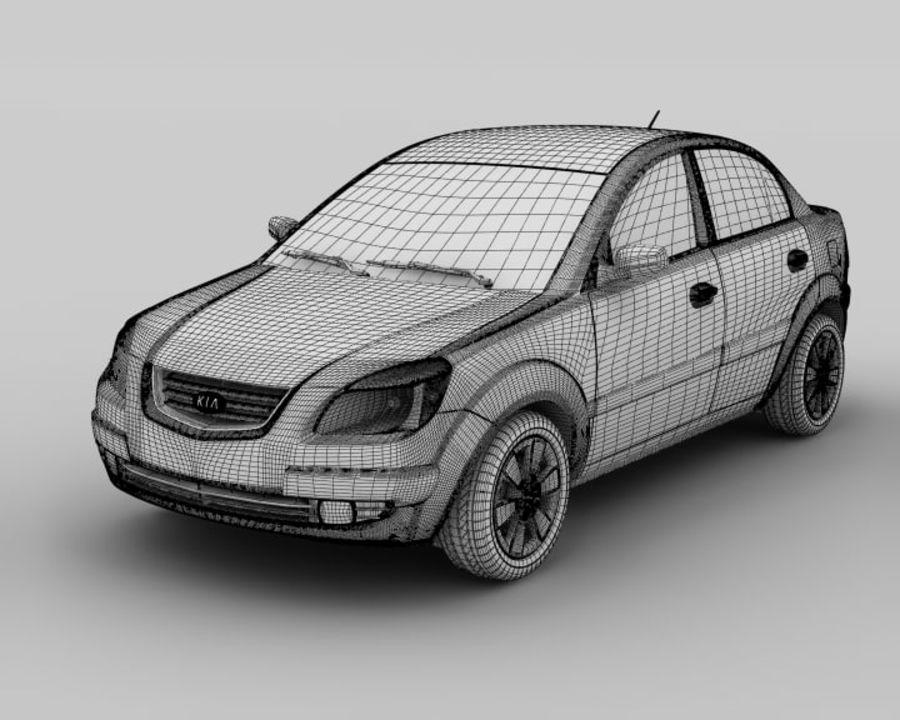 Kia Rio Sedan royalty-free 3d model - Preview no. 6