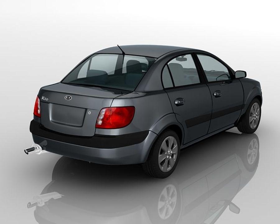 Kia Rio Sedan royalty-free 3d model - Preview no. 2