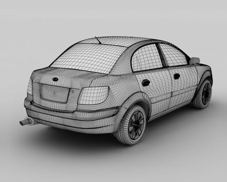 Kia Rio Sedan royalty-free 3d model - Preview no. 3
