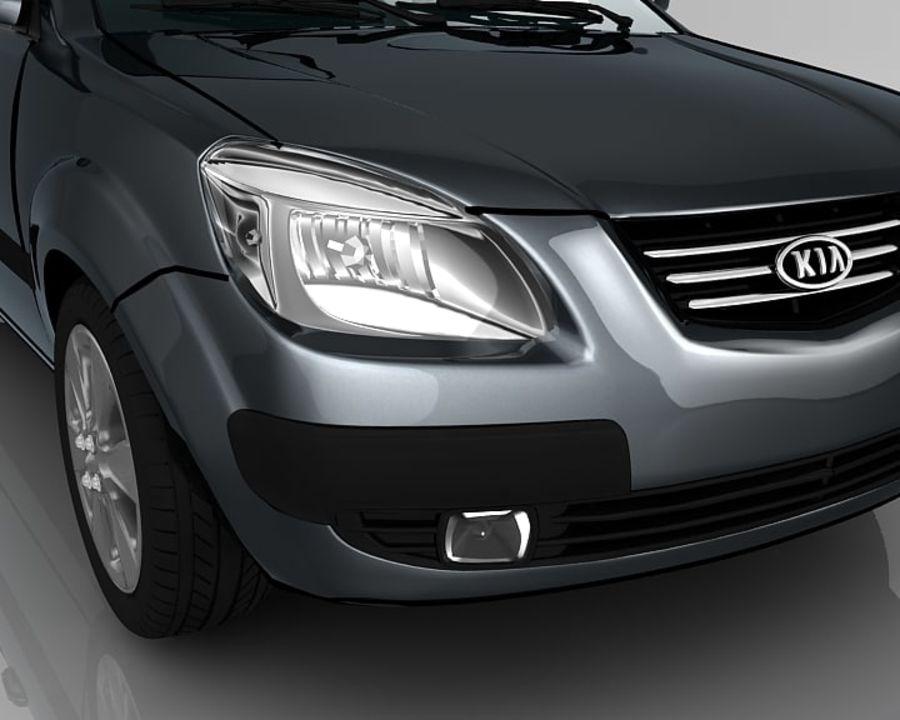 Kia Rio Sedan royalty-free 3d model - Preview no. 7