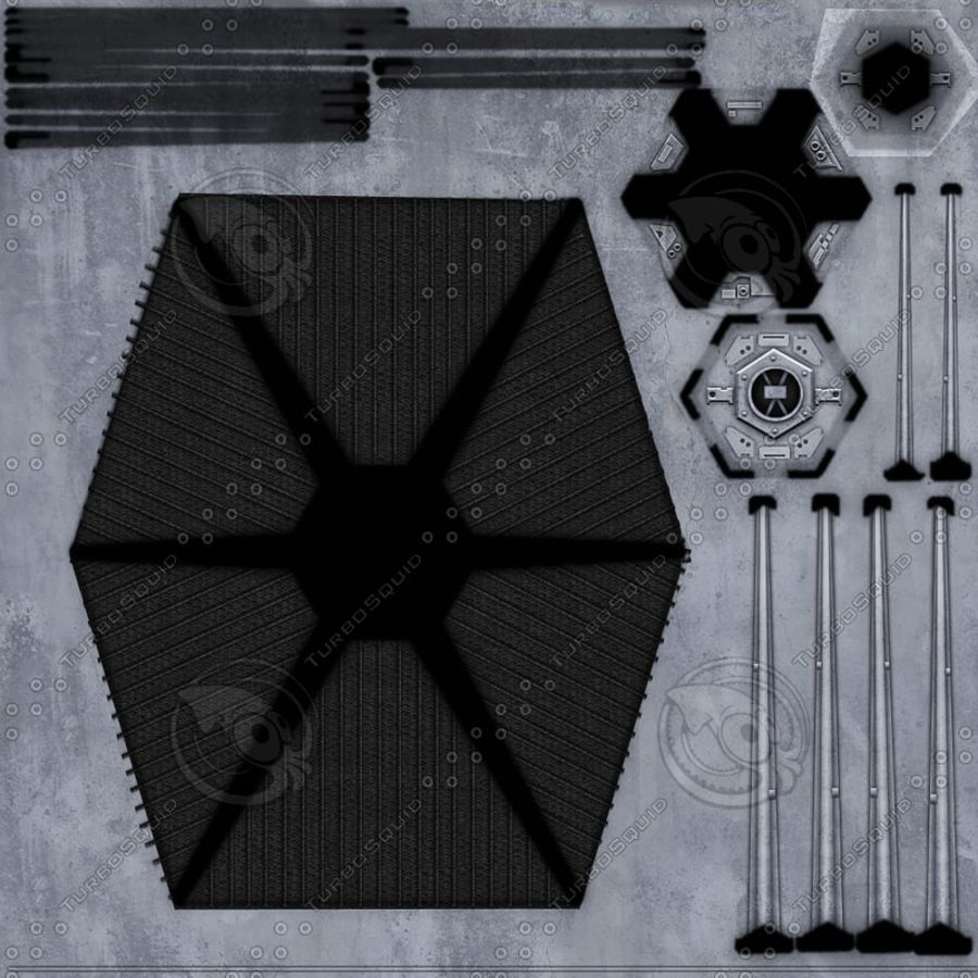Tie Fighter royalty-free 3d model - Preview no. 9