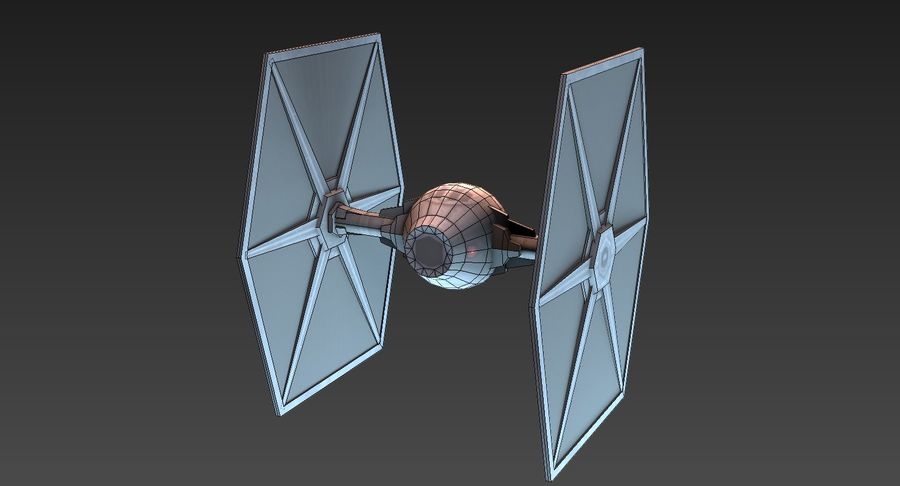 Tie Fighter royalty-free 3d model - Preview no. 7