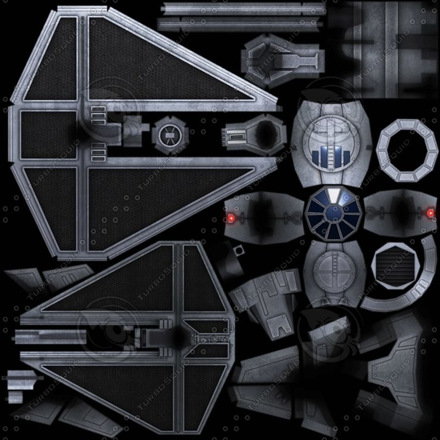 Tie Fighter royalty-free 3d model - Preview no. 10