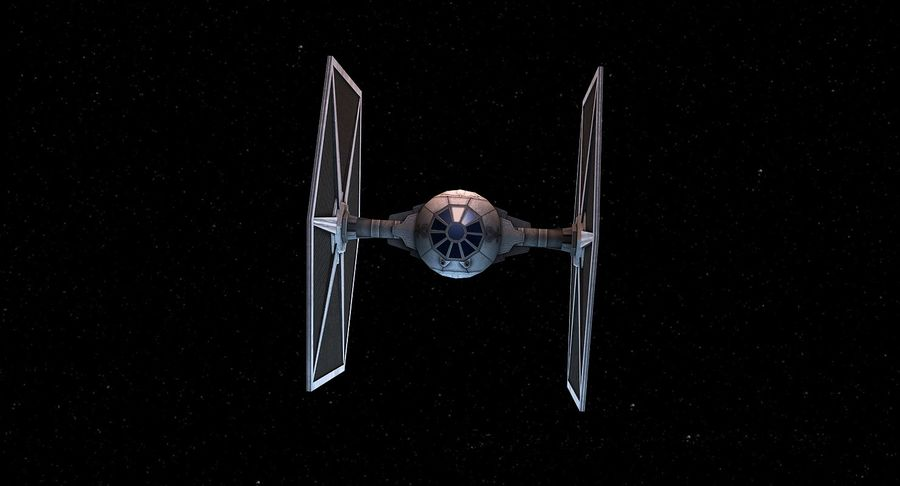 Tie Fighter royalty-free 3d model - Preview no. 4