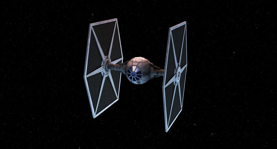 Tie Fighter royalty-free 3d model - Preview no. 2
