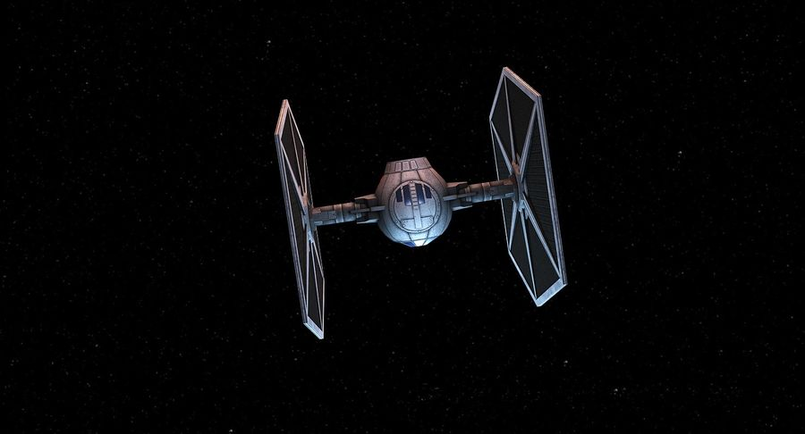 Tie Fighter royalty-free 3d model - Preview no. 5