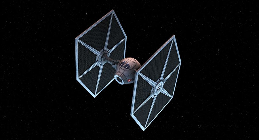 Tie Fighter royalty-free 3d model - Preview no. 6