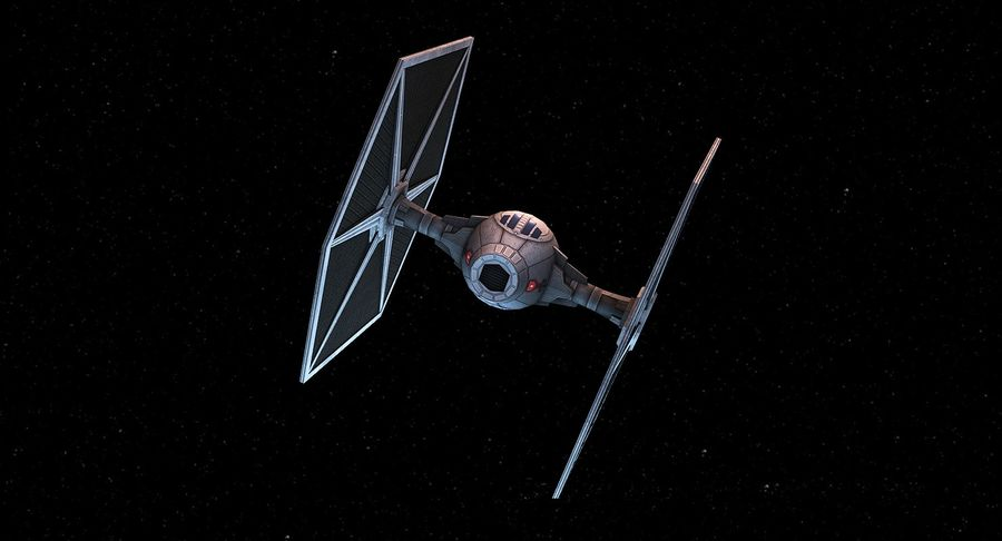 Tie Fighter royalty-free 3d model - Preview no. 3