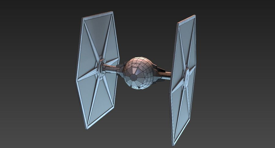 Tie Fighter royalty-free 3d model - Preview no. 8