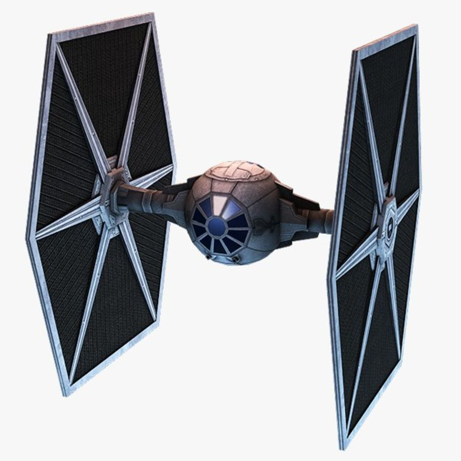 Tie Fighter royalty-free 3d model - Preview no. 1
