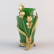 Vase iris 3d model
