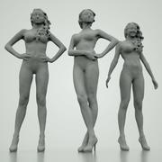 Podstawowe dziewczyny 3D 3d model