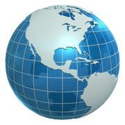 Континенты мира 3d model