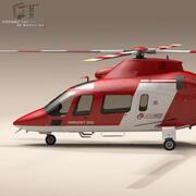 AW109 항공 구급차 3d model
