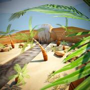 Cartoon Wüste 3d model
