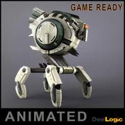 Робот Анимированный 3d model