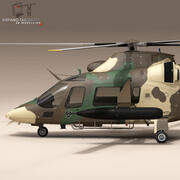 AW109LUH Sud Africa 3d model