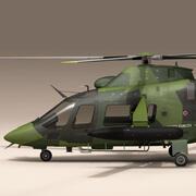 AW109LUH瑞典空军 3d model