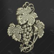Winorośl płaskorzeźba 1 3d model