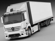 Mercedes Antos z przyczepą 3d model
