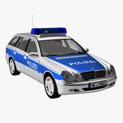 Mercedes E Class Police 3d model