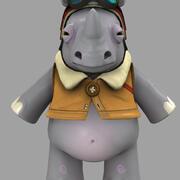 犀牛卡通 3d model