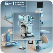 Medical Devices 5 in 1 vol.4 3d model