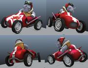 Atom_Car 3d model