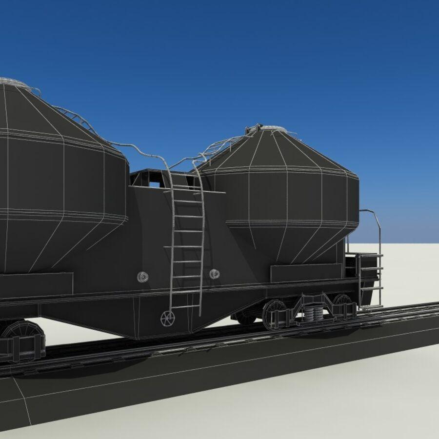 貨物列車 royalty-free 3d model - Preview no. 17