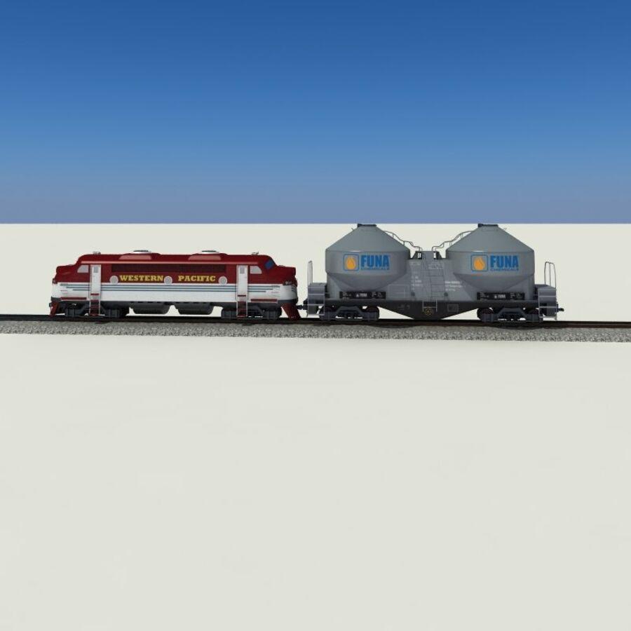 貨物列車 royalty-free 3d model - Preview no. 12