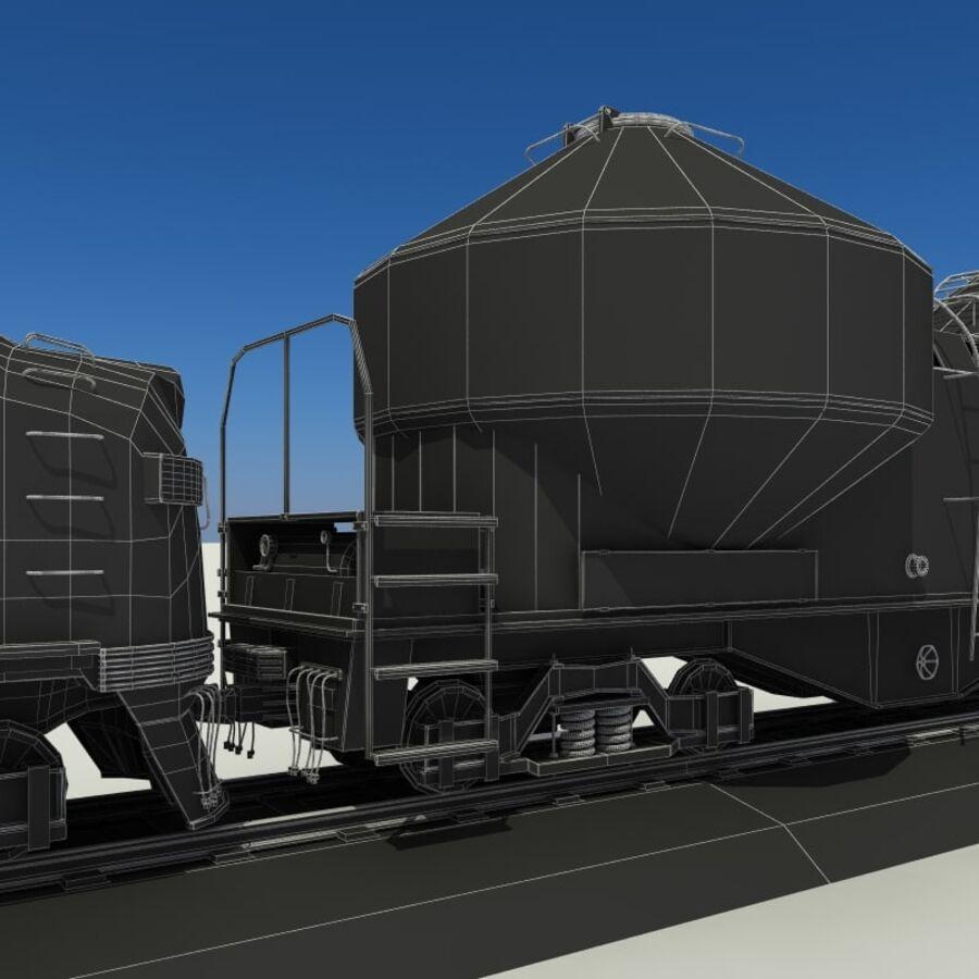 貨物列車 royalty-free 3d model - Preview no. 16
