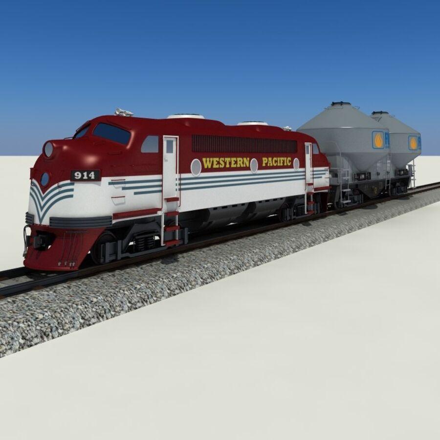 貨物列車 royalty-free 3d model - Preview no. 2