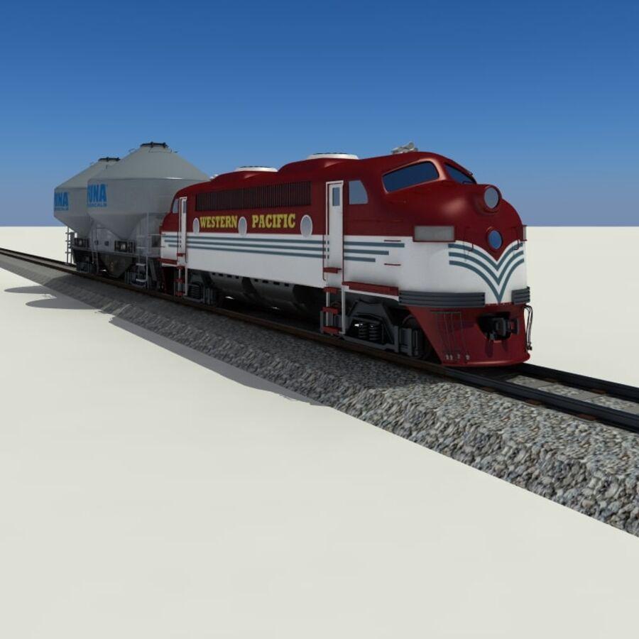 貨物列車 royalty-free 3d model - Preview no. 10