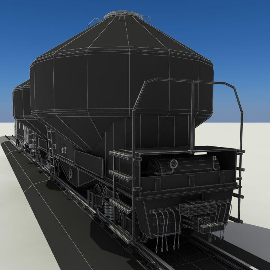 貨物列車 royalty-free 3d model - Preview no. 18