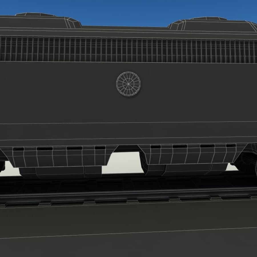 貨物列車 royalty-free 3d model - Preview no. 15