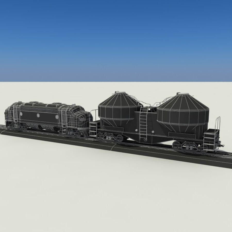 貨物列車 royalty-free 3d model - Preview no. 19