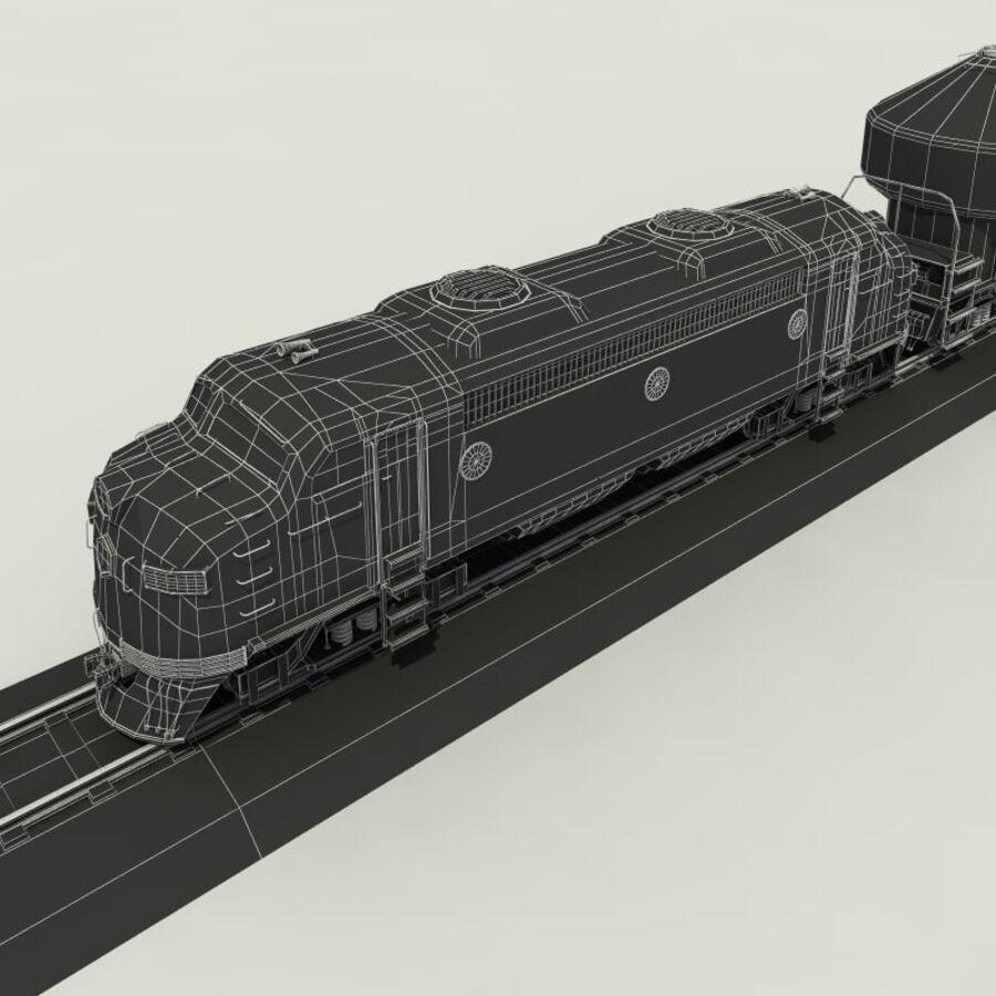 貨物列車 royalty-free 3d model - Preview no. 13
