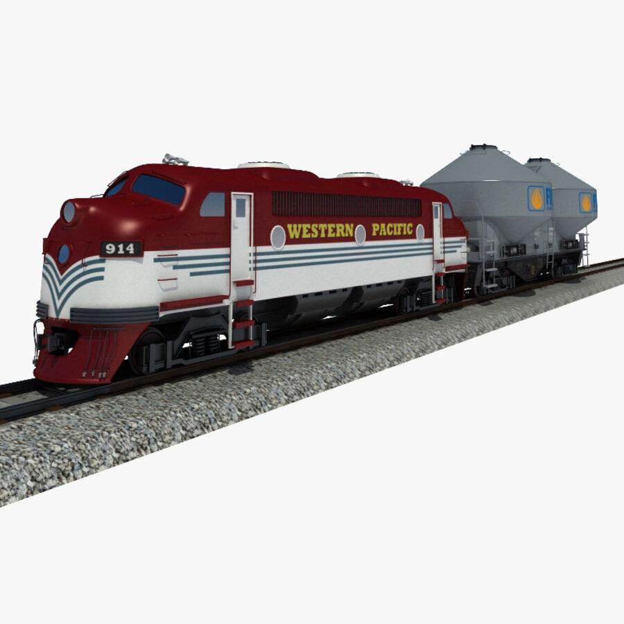 貨物列車 royalty-free 3d model - Preview no. 1