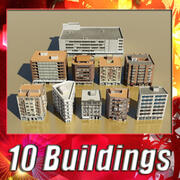 Building collection 1-10 3d model