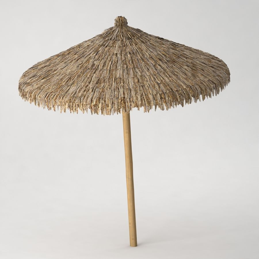 Beach Umbrella royalty-free 3d model - Preview no. 3