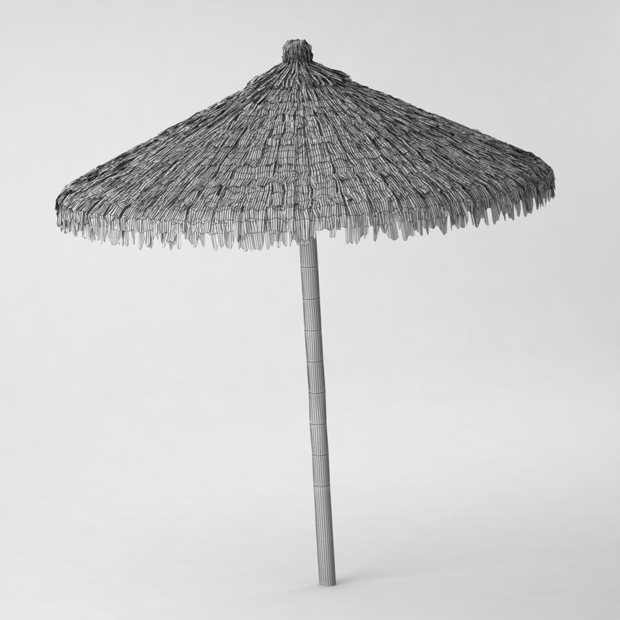 Beach Umbrella royalty-free 3d model - Preview no. 5